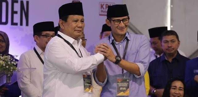 Biar Aman, Prabowo - Sandi Harus Menang Selisih Dua Digit