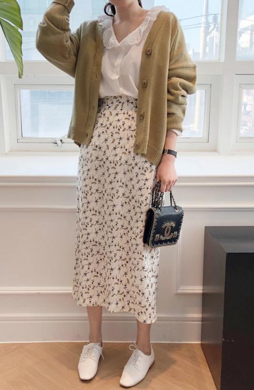 Floral High Waist Midaxi Skirt