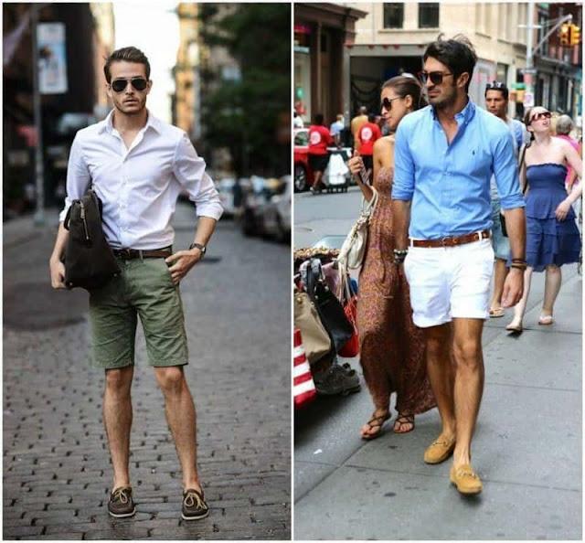 mẫu giày phù hợp với quần short kaki