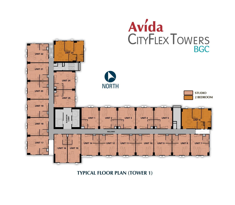 Polo Towers Floor Plan Avida Cityflex Towers Bgc Avida Towers Global Condo In
