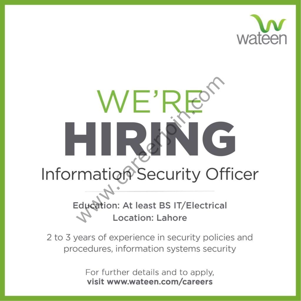 www.wateen.com Jobs 2021 - Wateen Telecom Ltd Jobs 2021 in Pakistan