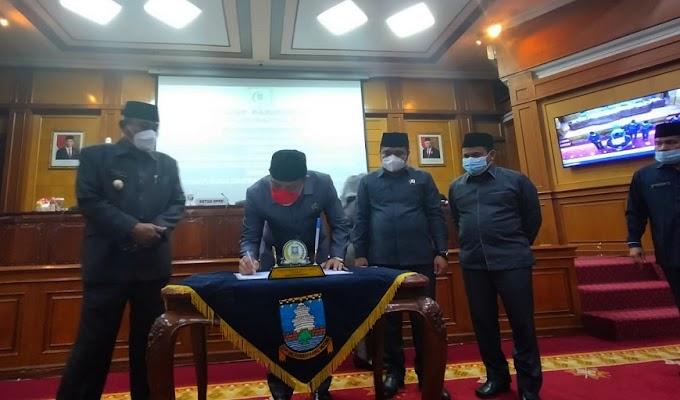 Raperda RPJMD Kabupaten Serang Ditetapkan menjadi Perda