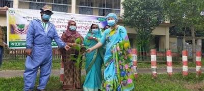 কুমিল্লার হোমনায় মুজিব জন্মশতবর্ষে বৃক্ষ রোপণ
