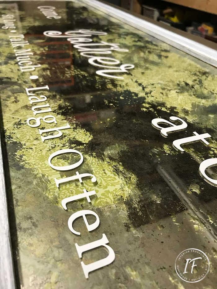 DIY Antiqus Mirror Typography