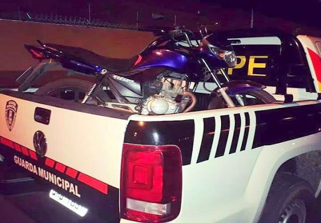 Guarda de Socorro recupera motocicleta tomada de assalto no Marcos Freire