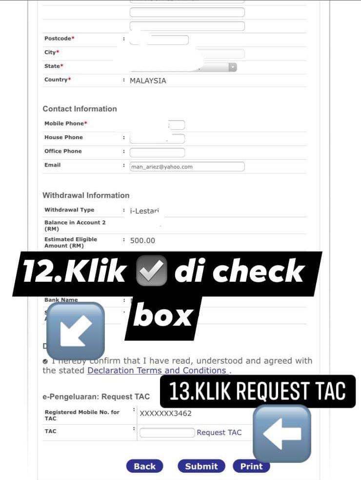 Cara Mohon Pengeluaran i-Lestari  KWSP i-Akaun 2 Secara Online