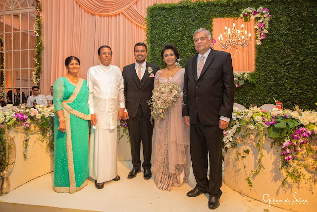 Dudley Sirisena's Son's Wedding