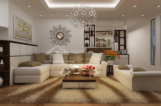 Không gian phòng khách đẹp và sang trọn khi có Thảm Xinh