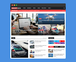 GalaxyMag - Responsive News & Magazine Blogger Template Free Download|
