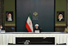 Tehran, Iran President Hassan Rouhani defends COVID vaccine efforts amid US pressure