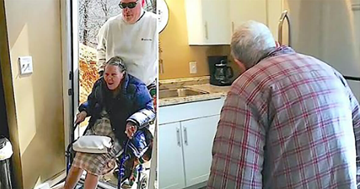Elderly couple see son has turned his basement rec room into a refurbished suite for them both to live in