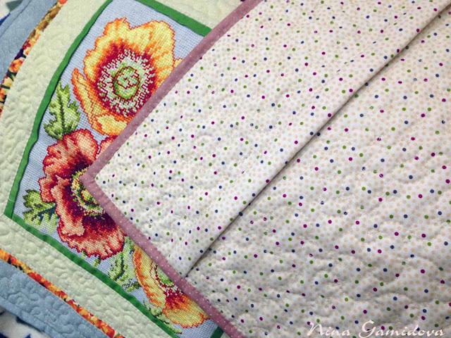 Чехлы на подушку с вышивкой. Лоскутное шитье.