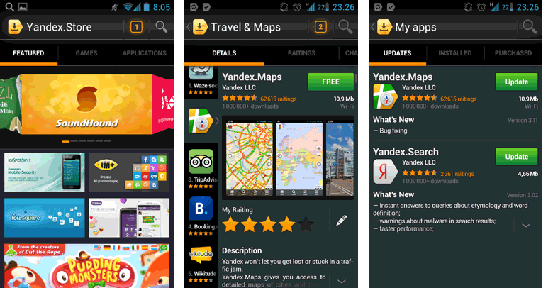 Android market indir Yandex.Store