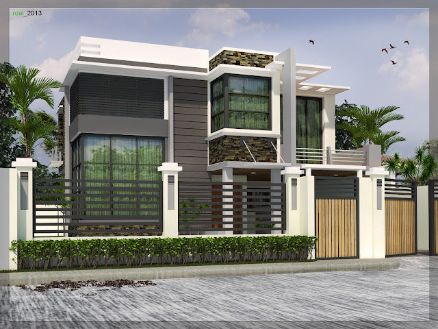 Personal Desk Two Storey Residential Building