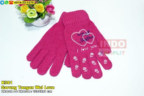 Sarung Tangan Wol Love