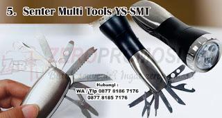 Souvenir Senter Multi Tools YS-SMT merupakan salah satu ide hadiah yang tepat untuk petualang outdoor