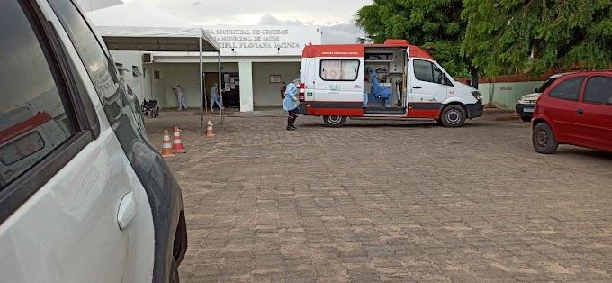 Samu é acionado para fazer transferência de paciente de Grossos com sintomas da Covid-19