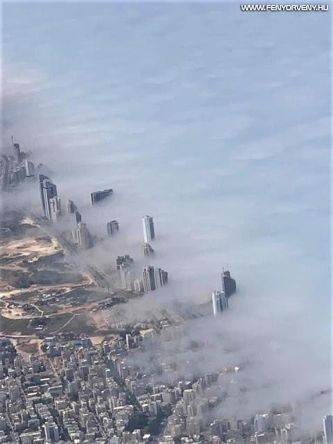 Látványos tengeri füst lepte el Izrael városát