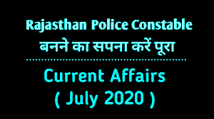 Rajasthan Gk Current Affairs in English (2020) Raj.Police Current Gk