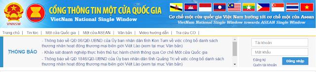 Cổng thông tin một cửa quốc gia Việt Nam