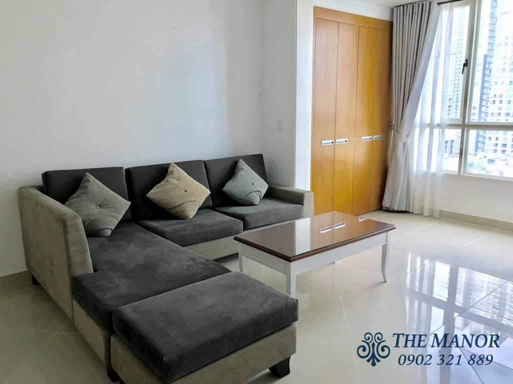 Chung cư Manor 91 Nguyễn Hữu Cảnh quận Bình Thạnh cho thuê 3PN - hinh 2