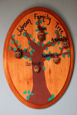 acorn family tree craft