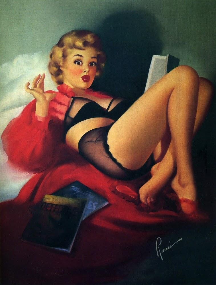 Mistério Surpreendente - Edward Runci e suas pinturas Pin-up
