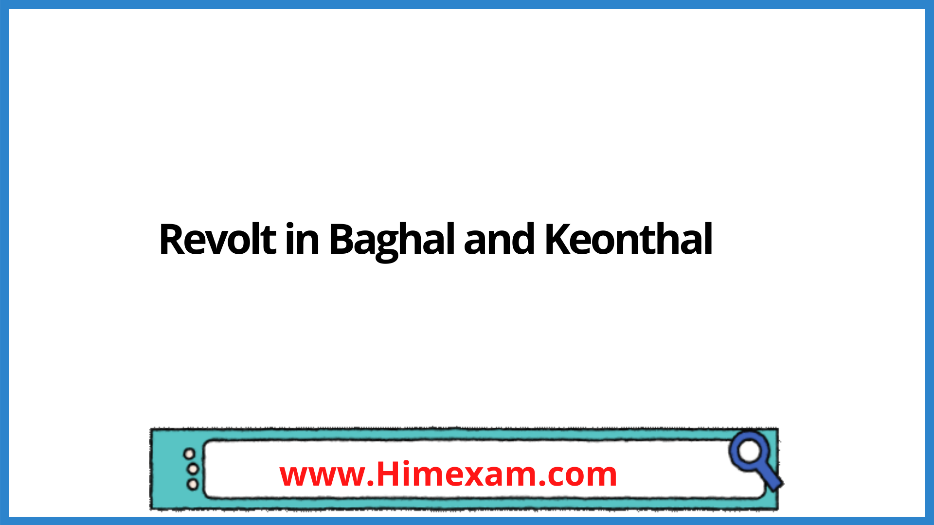 Revolt in Baghal and Keonthal
