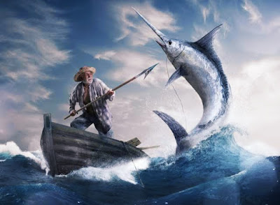 The wounds Santiago receives during his epic battle first with the Marlin and then with the sharks not only equal in with Christ but also suggest that suffering is the inescapable lot of the Hemingway Hero.