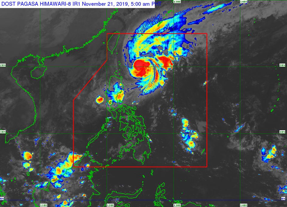 Satellite image of Severe Tropical Storm Sarah.