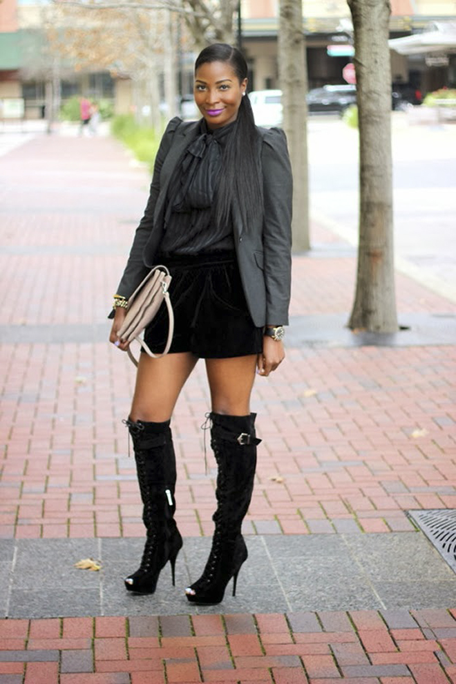 FASHION THE BLACK GIRL: Thigh High Boots In The Summer...YES!