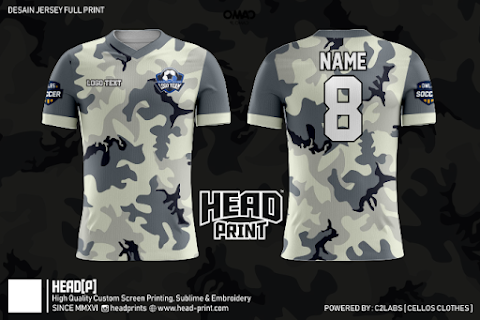 Military Contract Desert Camouflage Jersey Full Printing Custom - Head Print Jersey