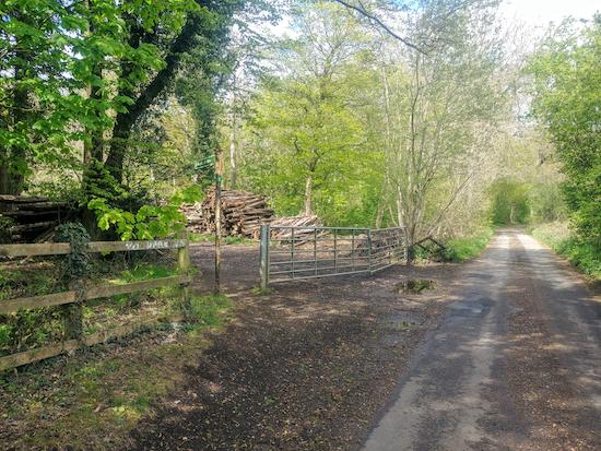 Bridleway 47 heading into Symondshyde Great Wood