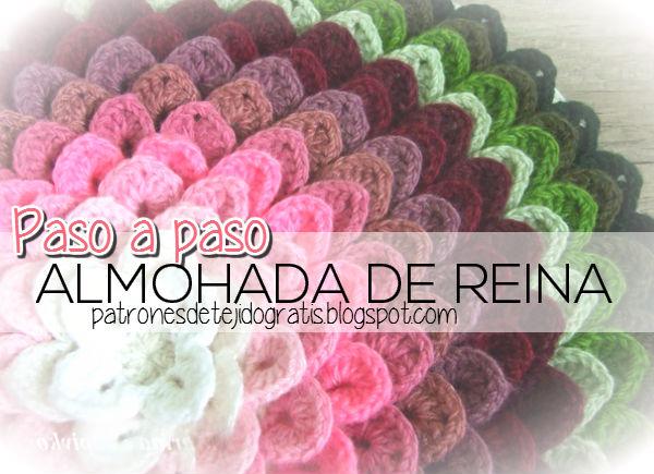 Cojin de flores degradee paso a paso crochet