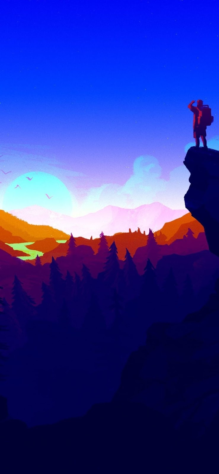iPhone X 4k firewatch wallpaper download