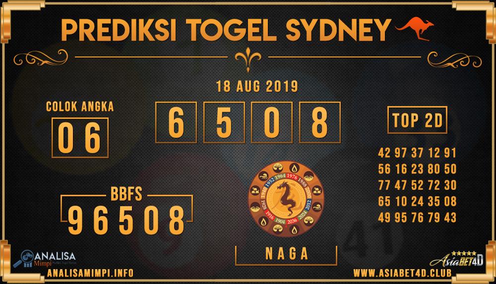PREDIKSI TOGEL SYDNEY ASIABET4D 18 AUG 2019
