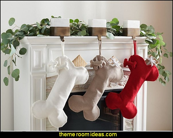 Dog Bone Hanging Stocking pet gifts christmas pet decorations