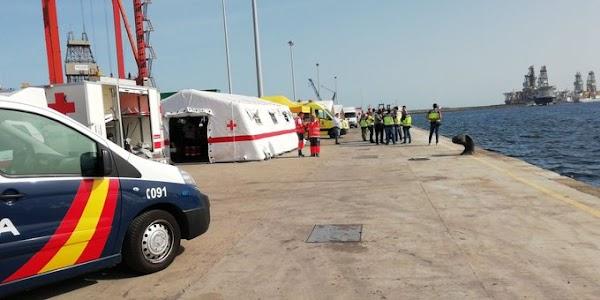 Llegan a Las Palmas de Gran Canaria los cuatro  inmigrantes fallecidos