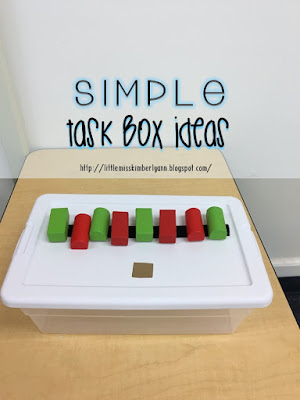 Task Box Ideas for Special Education