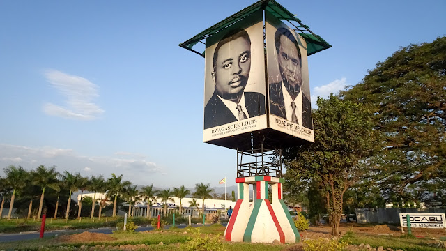 First monument in Bujumbura when entering the city