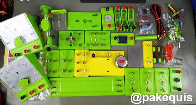 Kit de laboratório de eletricidade