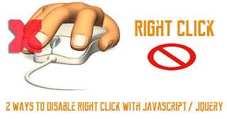 Kode Anti-Copas Postingan Blog - Mematikan Fungsi Klik Kanan Mouse