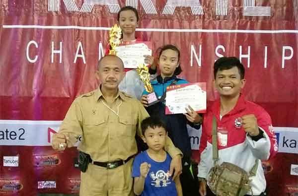 karatedo kota cirebon bawa emas di karate championships
