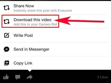 download facebook video ios