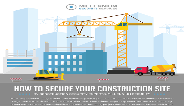 How to Secure Your Construction Site #infographic