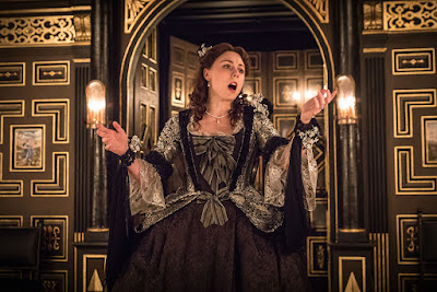 Kelly Price as Mrs Cibber - Sam Wanamaker Playhouse- photo Marc Brenner