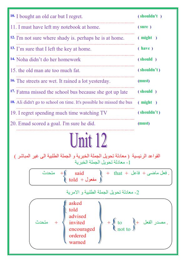 مراجعة قواعد اللغة الإنجليزية للصف الثالث الاعدادي الترم الثاني في 14 ورقة تحفة 4_003