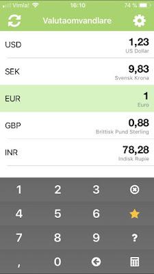 Valutaomvandlare som app