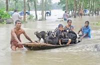 Floods in Bangladesh focus-composition