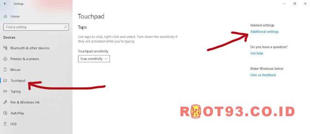 mengatur touchpad laptop - root93
